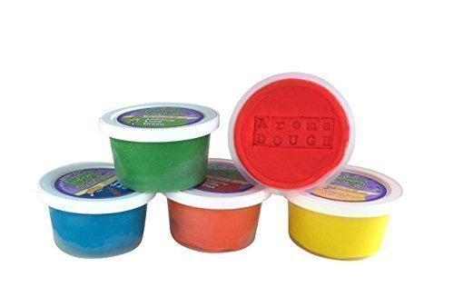 Aroma Dough Gluten-Free, Soy-Free, Play Dough for Kids, Eco Friendly Playdough Set (5 Pack) , All Natural Aromas! (Play Toxic Non Dough)