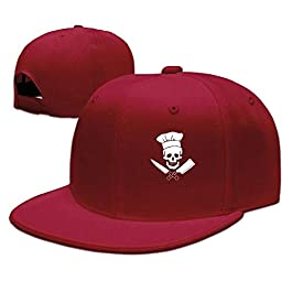 HouyunGood Skull-Chef Cooking Skull Hat Grill Master Unisex Classic Snapback Hats