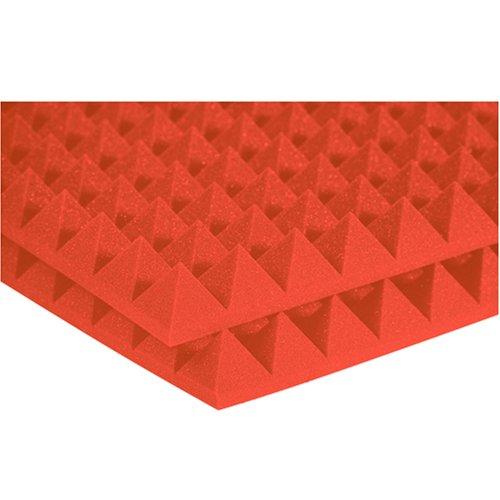 Auralex 2PYR24ORA 2 Studiofoam Pyramid Panels in Orange 12-2'x4'x2 Panels