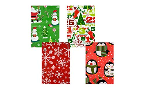 Christmas Bike Bags, 60x72 in Pack of 2 Heavy Duty Extra Lar
