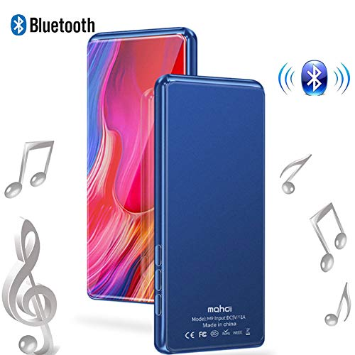 Mp3 Player 3.5 Inch Mp4 Full Screen IPS Touch Screen Full Format Video Playback HiFi Lossless Sound Quality 8G, Black,Blue