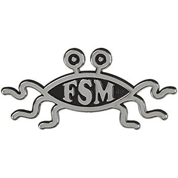 Amazon Fsm Flying Spaghetti Monster Chrome Auto Emblem 55 X