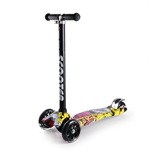 OUTAD Kick Scooters for Kids, Super-Tough Kids Stunt Scooter with Adjustable Handle Bars, New 2017 Designs (3-12 years old Non-mainstream) (Best Stunt Scooter For 12 Year Old)