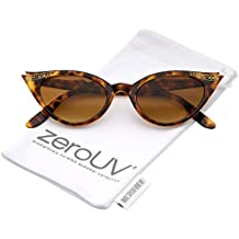 zeroUV - 50s Vintage Cat Eye Sunglasses for Womens with Rhinestones Pinup Girl Clothing Rockabilly Accessories