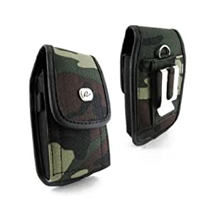 VERTICAL HEAVY DUTY RUGGED COVER BELT CLIP SIDE CASE POUCH FOR ATT Samsung Galaxy S II 2 Two / SGH-i777
