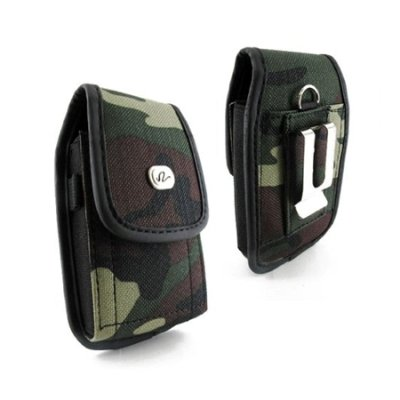 BRAND NEW VERTICAL HEAVY DUTY RUGGED CAMOUFLAGE DESIGN COVER BELT CLIP SIDE CASE POUCH FOR ATT BlackBerry Curve 9360 Apollo Att Curve