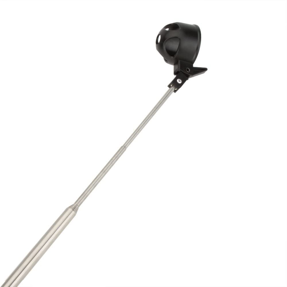 tolako 2m pelota de golf Retriever–Pelotas de golf telescópica Picker Tubo de recogida (16A 78pulgadas Longitud de plegado, Barra de acero inoxidable, pala de bloqueo automático