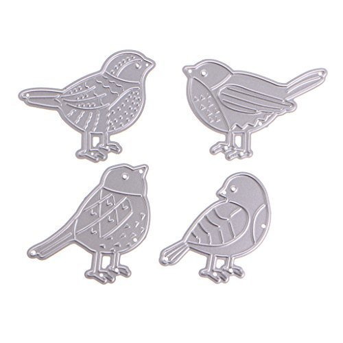 KKathson 4PC Birds Metal Cutting Dies Stencil Scrapbook Paper Card Craft Embossing DIY (Die Large Bird)