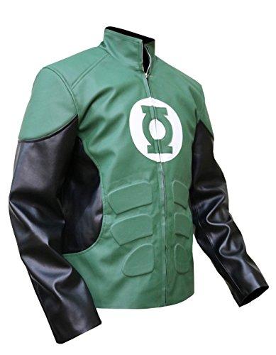 Gardner's Green Lantern Leather Jacket,DC Comics Cosplay Faux