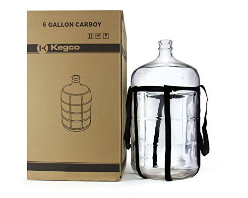 Kegco KC FP-CB-06 Glass Carboy, 6 gallon, Clear by Kegco (Image #3)
