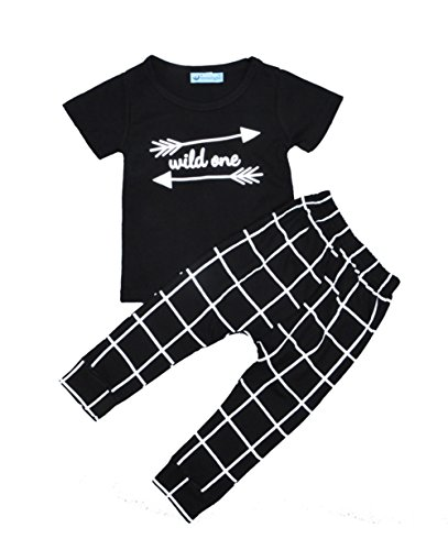 iceko Summer Style Infant Clothes Baby Clothing Sets Cotton Short Sleeve 2pcs Baby Boy Clothes … (3T)