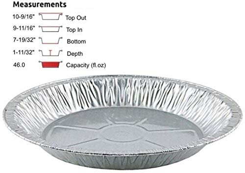 Pactogo 11 inch Aluminum Foil Pie Pan Extra-Deep Disposable Tin Plates (Pack of 12)