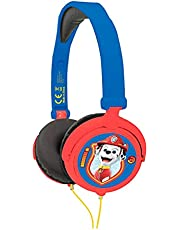 Lexibook HP015PA Paw Patrol Chase Marshall stereo hoofdtelefoon, kindvriendelijke kracht, opvouwbaar en instelbaar, blauw/rood