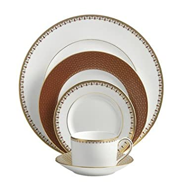 Waterford Lismore Diamond Cinnabar Five Piece Place Setting