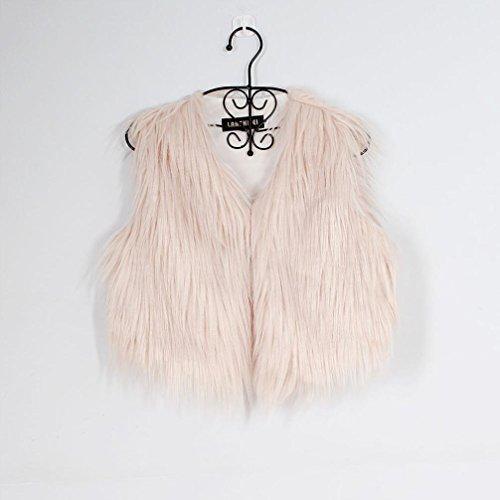 punto Outwear Mujer las chaqueta las Abrigo mujeres sin de mangas de sintética Cinnamou Chaleco de la las Chaleco Chaleco piel chalecos de señoras señoras la de de Rosa FdAqnwS