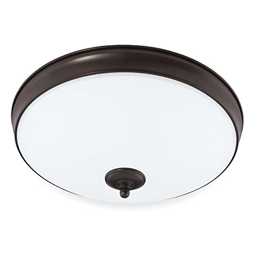 Legacy Ceiling Flush - Good Earth Lighting Legacy 19-Inch LED Flush Mount Light - Bronze