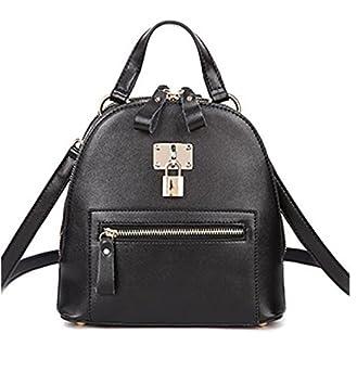 24d251c2e 2016 Nuevos Bolsas de cuero de bolsos de cuero hombro de moda bolso de  mochila coreana simple candado, 3: Amazon.es: Equipaje