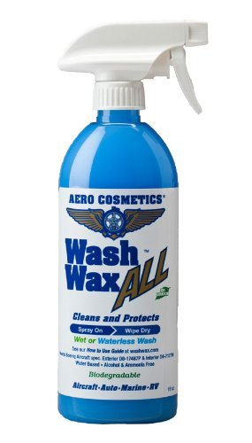 Wet or Waterless Car Wash Wax 16 oz. Aircraft Quality Wash Wax for your Car RV & Boat. Guaranteed Best Waterless Wash on the Market (Best Waterless Car Cleaner)