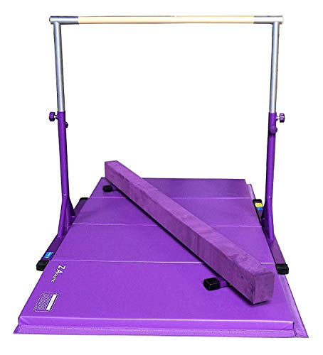 Z-Athletic Expandable Kip Bar for Gymnastics, 4ft x 8ft x 2in Mat, 7