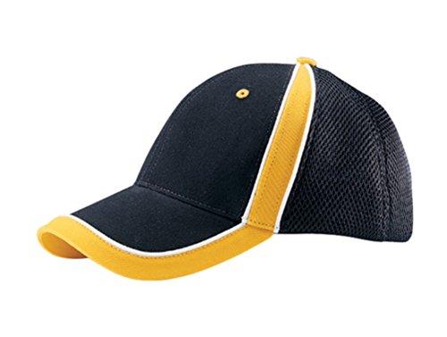G Men's Low Profile Brushed Canvas Sports Mesh Cap (Black - G-flex Canvas