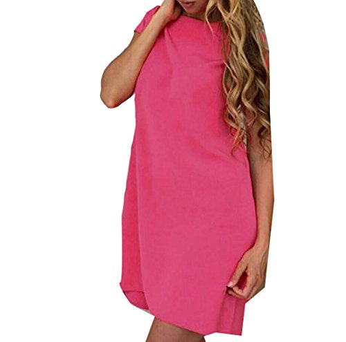 Fashion Sexy Neck Blue Comfy Round Sundress Coolred Womens Lake Baggy ORYqtnw