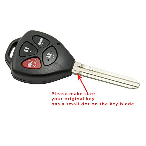 Keyless2Go New Replacement Keyless Entry Remote Car Key for 2007 2008 2009 2010 Toyota Camry HYQ12BBY