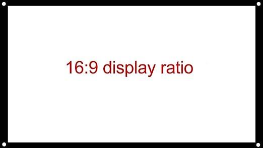 JIANGNAN 150 Pulgadas Simple Cortina de plástico Blanco 16: 9 4: 3 ...