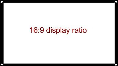 JIANGNAN Pantalla Simple de 100 Pulgadas HD 16: 9 4: 3 ...