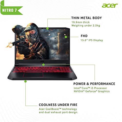 Acer Nitro 7 Intel Core i5-9300H Processor 15.6-inch Thin & Light Gaming 1920 X 1080 Laptop (8GB RAM/ 256GB SSD + 1TB… 2