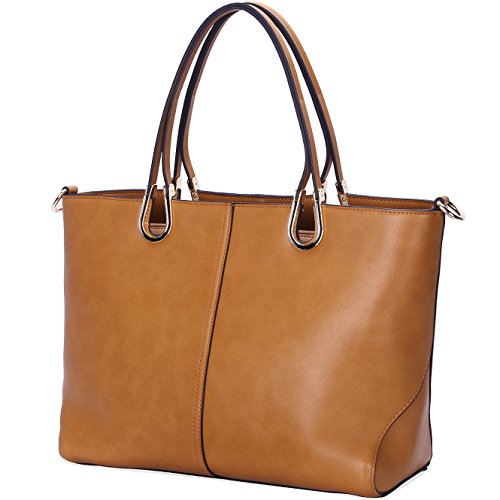Handbags for Women,Designer Handbags Leather Tote,Large Tote Bag Shoulder Bags by YAAMUU[L0005/brown]