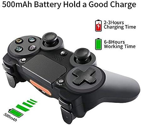 LUIBOR Mando Inalámbrico para PS4,Wireless Bluetooth Gamepad Controller Joystick con DualShock4 Compatible con Playstation 4 y Playstation 3 y Windows,Batería de Lítio 1000 mAh Dura Largo: Amazon.es: Videojuegos
