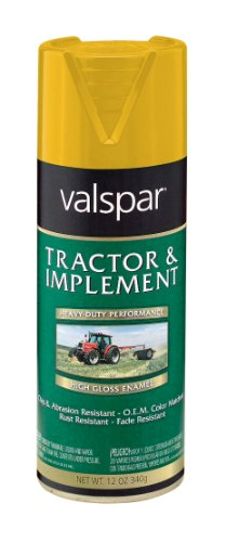 Valspar 5339-25 Cub Cad Yellow Tractor and Implement Spray Paint - 12 oz.