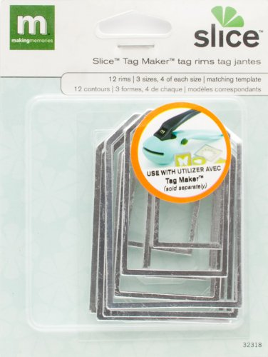 MAKING MEMORIES Slice Tag Maker Rims, Tag Shape