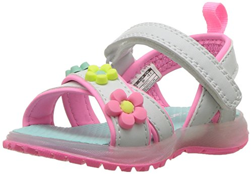 Carter's Girls' Stacy Light Sandal, White, 10 M US Toddler ()