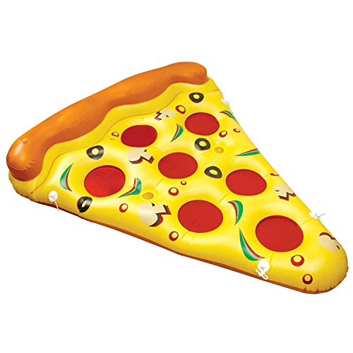 U.S. Pool Supply Giant 6 x 5 Foot Inflatable Pizza Slice Pool Float - Fun Kids Swim Party Toy - Huge 72