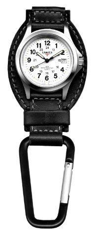 Dakota Black Leather Field Clip Watch (Dakota Black Leather)