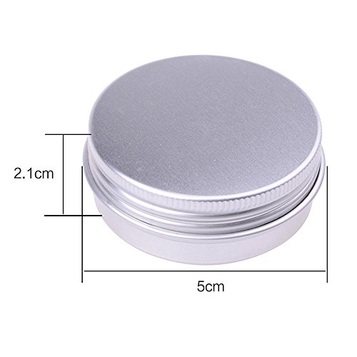 Review Round Silver Aluminum Metal