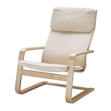 Poltrona A Dondolo Ikea.Ikea Pello Poltrona Oscillante A Chaise Longue In Betulla E Acciaio