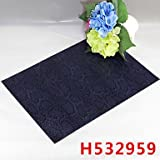 WWQY Snake pattern Leather without washing placemat Dining Table / Table Decoration / Dinner Decor / Home Decoration , dark navy