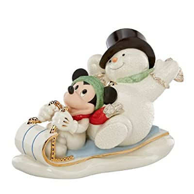 Lenox Snowy Day with Mickey Figurine