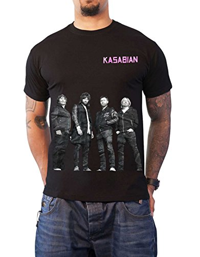 Kasabian T-shirts - Kasabian T Shirt Glastonbury 2014 Live Band Shot Official Mens Black Size M