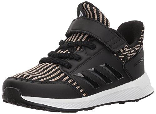 adidas Baby Rapidarun Knit I Sneaker, Core Black, Core Black,White, 4K M US Infant