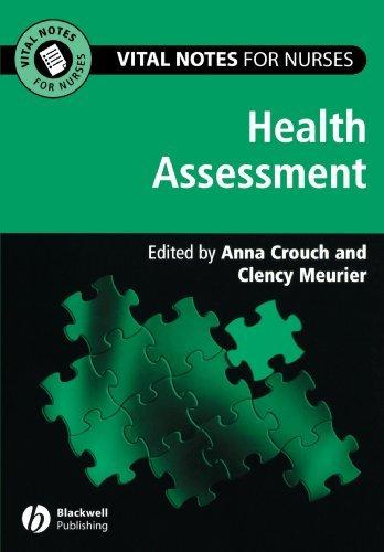 Health Assessment (Vital Notes for Nurses) Pdf