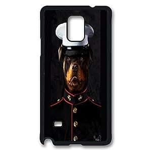 BULLDOG MARINE Custom Back Phone Case for Samsung Galaxy Note 4 PC Material Black -1210411