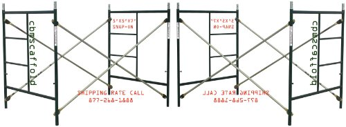 2 Sets of Scaffold masonry frame 5' x 5' x 7' Scaffolding with Cross Brace and Coupling Pins CBM1290 by Scaffold Frame Set