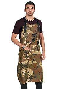 Con envío gratuito de manga corta para hombre diseño de mariquita multicolor 101,6 cm largo nuevo camuflaje delantal