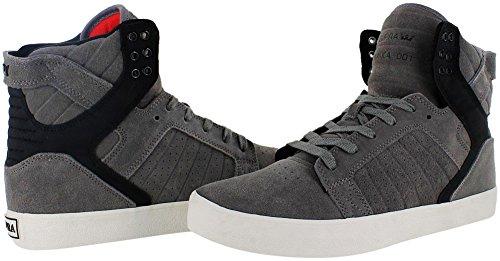 Zapatillas Supra: Skytop High GR/BK Gris & Negro