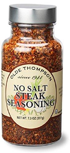 Olde Thompson 1400-63 No Salt Steak Seasoning, 7.3 Ounce - Olde Thompson Steak Seasoning