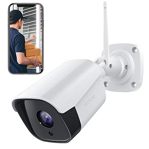 Victure Outdoor Security Camera 1080P Weatherproof WiFi Bullet Camera Wireless CCTV Camera with Night Vision Two Way Audio Motion Detection Home Surveillance Camera Compatible with iOS/Android System ()