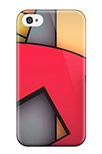 High Quality Shock Absorbing Case For Iphone 4/4s-funky Geometrics